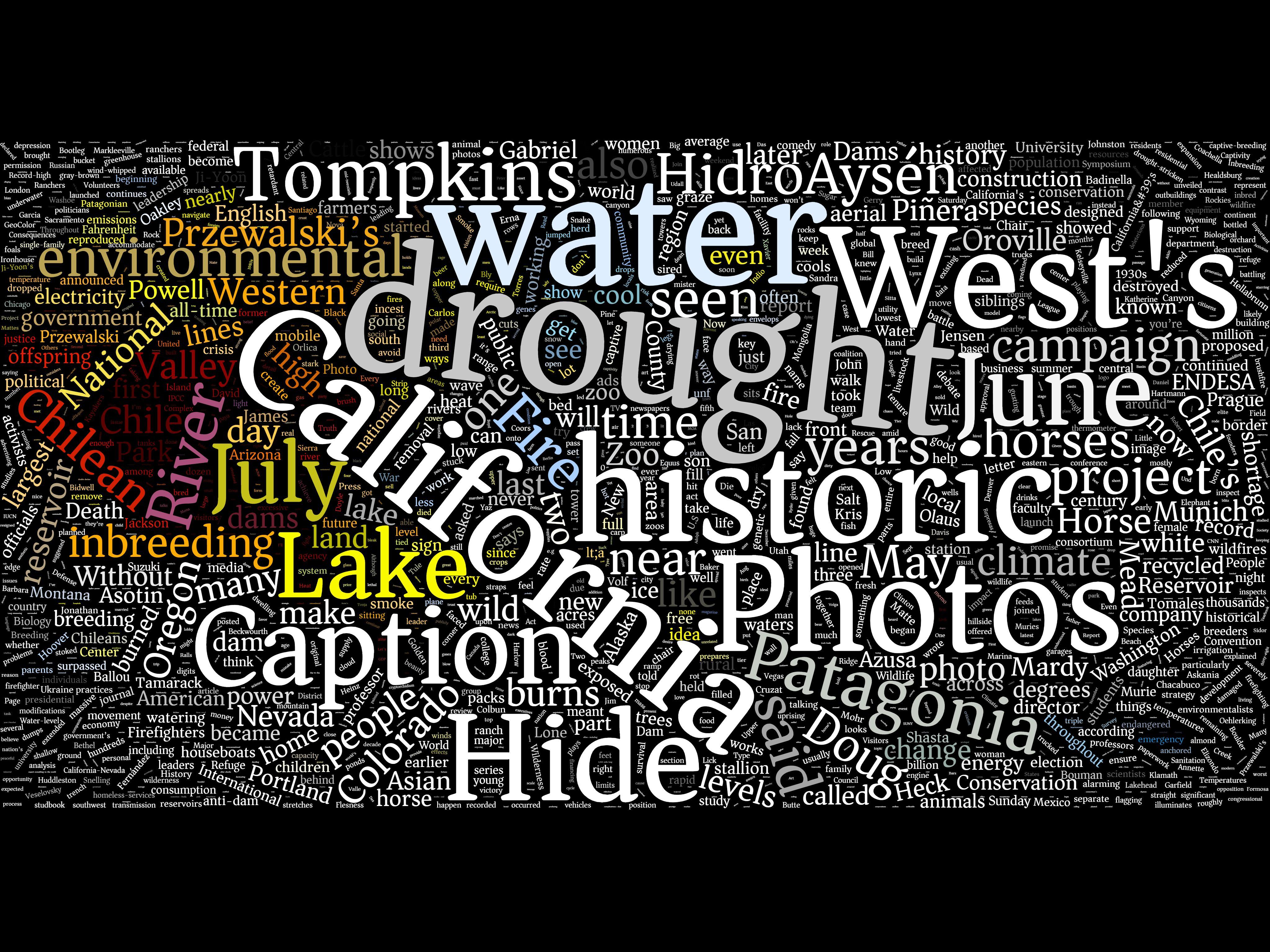 Drought, water, California